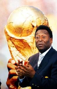 Copa do mundo no Brasil e Pelé  não recebe o destaque que o mundo lhe dá.