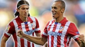 Filipi Luis e Miranda  entrosados no Atlético de Madri formam lado esquerdo defensivo mais seguro do mundo. Felipão respeitará a fase dos dois?